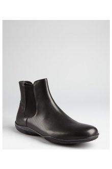 PURCHASED - Prada Prada Sport Black Leather Slipon Ankle Boots - Lyst