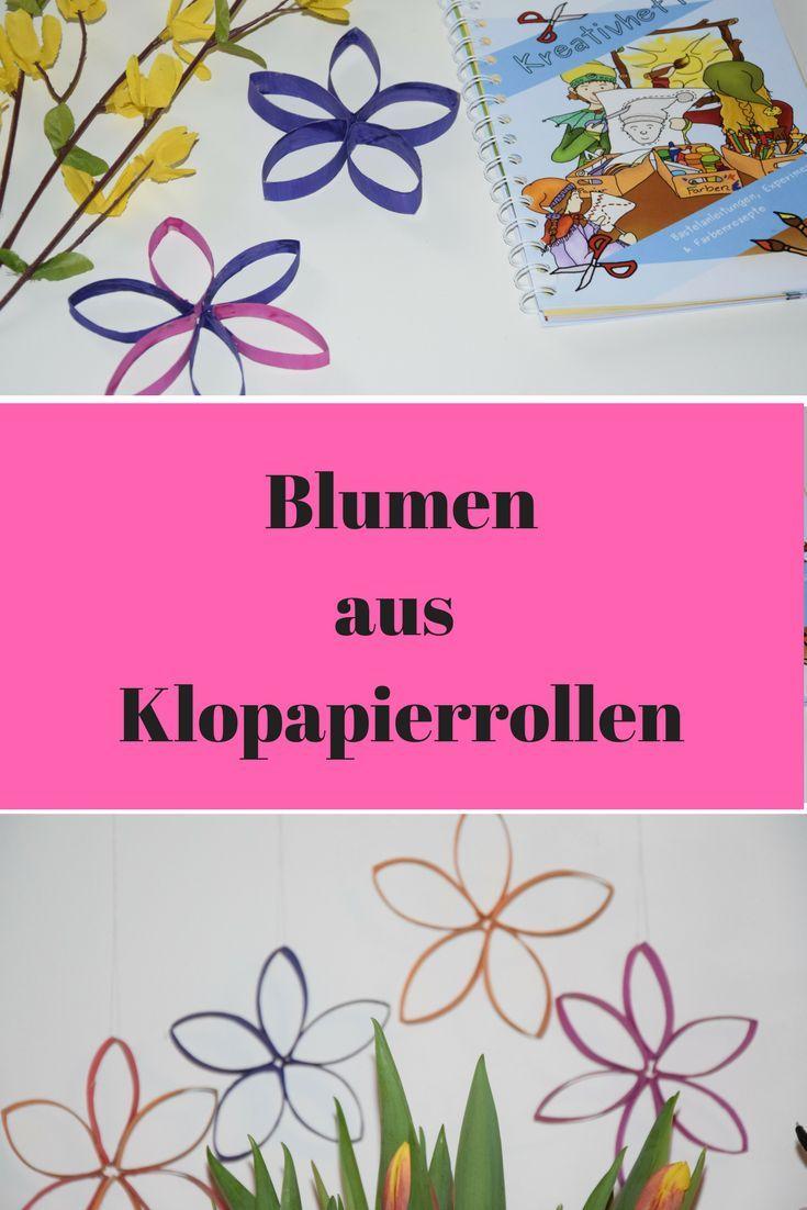 Upcycling-Idee mit Klopapierrollen Blumen für den Frühling ...