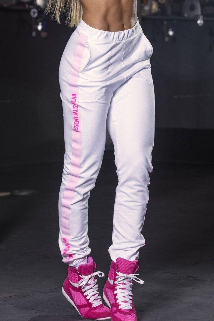 39f5c6243b8c2 Fight Club Jogger Pants - White Jogger Pants | Bad Girl Fitness Wear |  White jogger pants, Jogger pants, Joggers