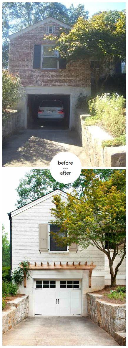 Home Exterior - garage pergola painted brick http://terracottaproperties.com/portfolio/before-after/