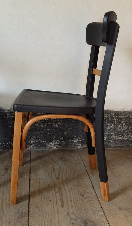 Mamba - Chaise bistrot relookée noire
