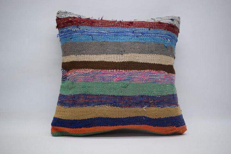 18x18 Handwoven Kilim Pillow Turkish Kilim Pillow Handwoven Kilim Pillow 18x18 Naturel Kilim Pillow Boho Pillow Cushion Cover 01469 Handwoven Kilim Turkish Kilim Pillow Boho Pillows