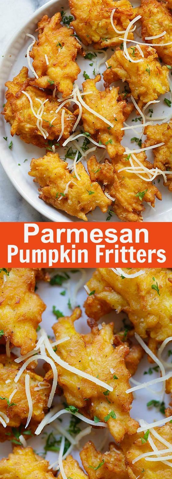 Parmesan Pumpkin Fritters - crazy delicious pumpkin fritters recipe with Parmesan cheese. Easy, fail-proof and takes only 20 mins | rasamalaysia.com