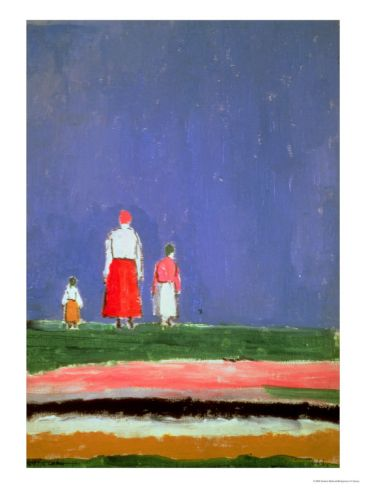 Three Figures, 1913-28 Giclee Print by Kasimir Malevich at Art.com