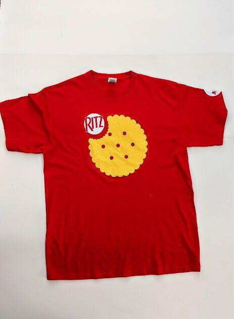 Ritz Crackers Mens XL T Shirt NCAA Red Rare Nabisc…