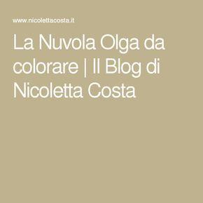 La Nuvola Olga da colorare | Il Blog di Nicoletta Costa