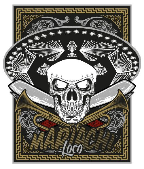 Mariachi Loco by Elrich Hellrich, via Behance