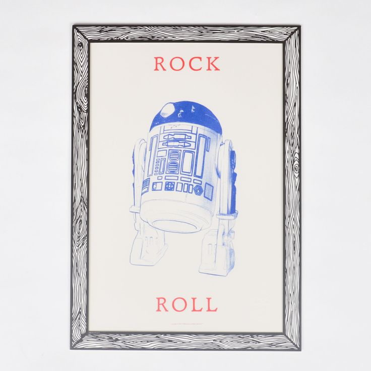 "The Prints by Marke Newton ""Rock and Roll"" Poster mit R2D2-Print - The Prints by Marke Newton - Marken 