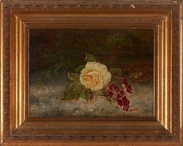 RANTS BØE BERGEN 1820 - D.SST. 1891  Stilleben Olje på lerret, 28x40 cm Signert nede til høyre: F. Bøe 1891