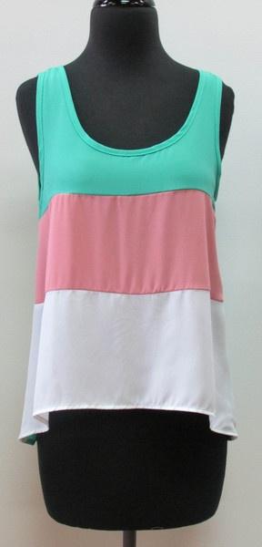 Tri-Color Top  shopcocobella.com