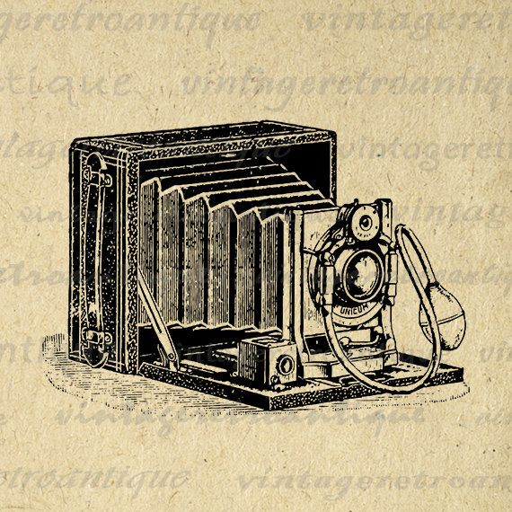 Printable Digital Old Fashioned Camera Image Download