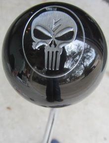Chrome/Black Punisher Skull Shift Knob