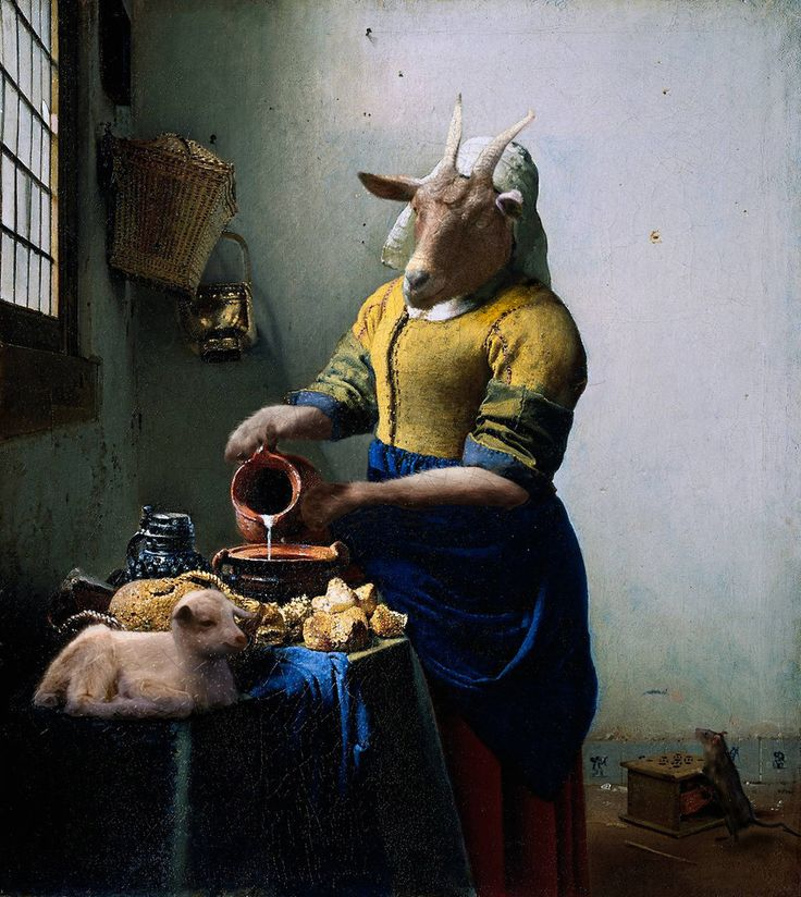 """The Milkmaid"" (original by Johannes Vermeer) 