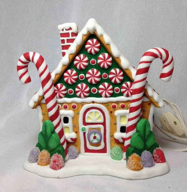 Retired Kurt Adler Lighted Gingerbread House
