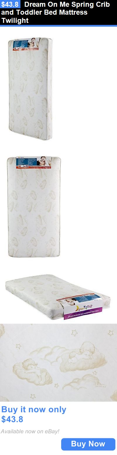 Baby Nursery: Dream On Me Spring Crib And Toddler Bed Mattress Twilight BUY IT NOW ONLY: $43.8