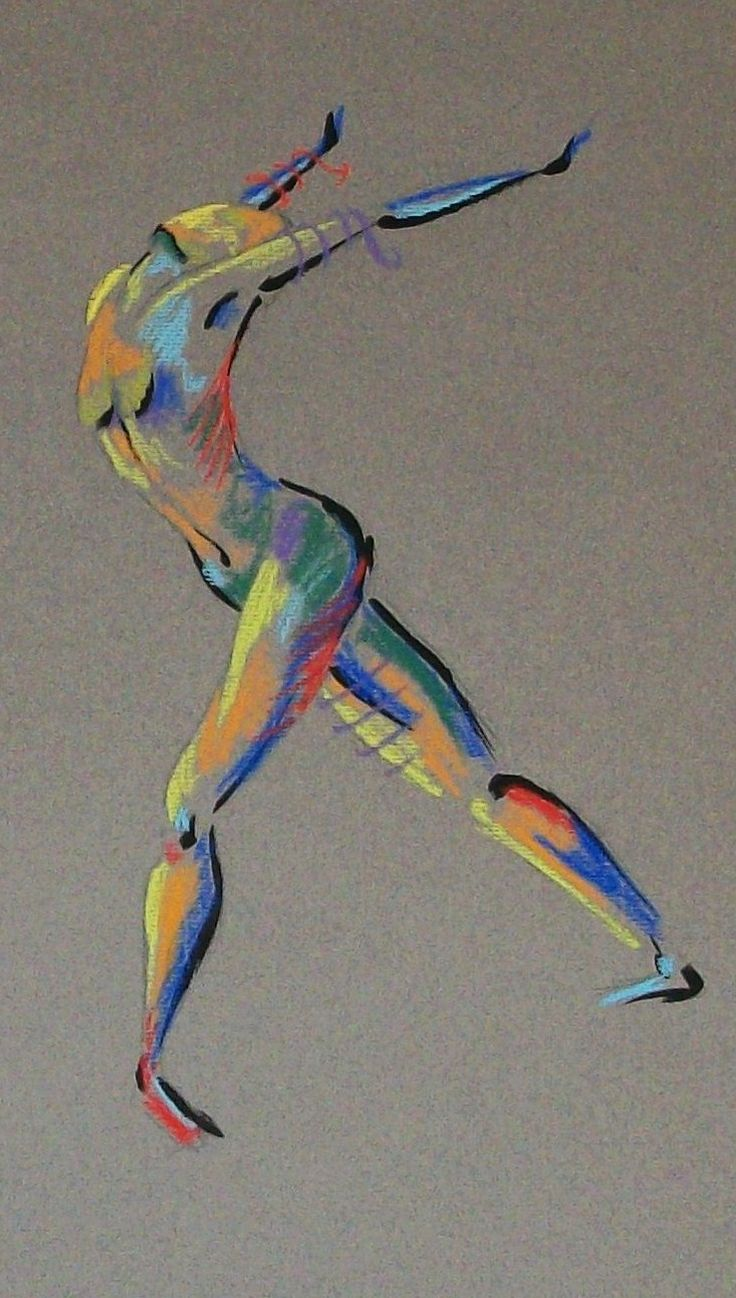 Amazing figure in motion, I love the colours used and the position of the figure. I think it makes it very striking.