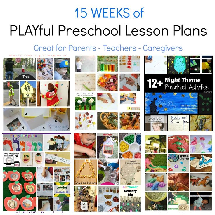 15 Weeks of Preschool Thematic Lesson Plans from the Playful Preschool Education team. Great for parents, teachers, and care-givers of children ages 3-6