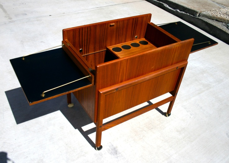 ray 39 s mid century modern garage teak bar cart midcentury modern bar carts pinterest teak. Black Bedroom Furniture Sets. Home Design Ideas