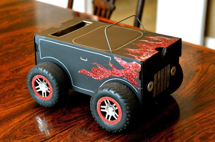 Monster Truck Valentines Box