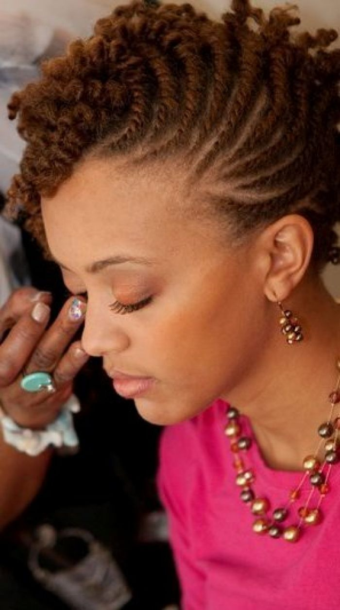 Marvelous 1000 Images About Two Strand Twists Updo On Pinterest Flat Short Hairstyles Gunalazisus
