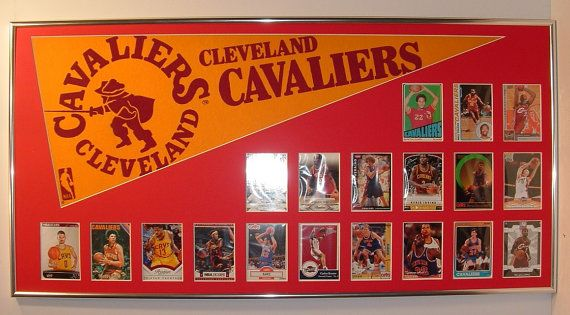 Cleveland Cavaliers player collage with pennant & by FanaticFrames