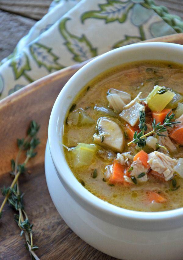 Turkey & Wild Rice Soup | mountainmamacooks.com