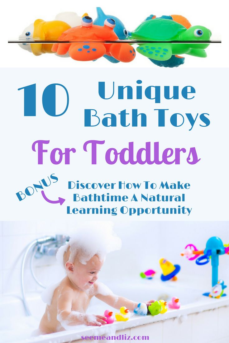 These bath toys for toddlers are packed with learning opportunities. Click to discover how your toddler can learn while having a bath! #bathtoys #waterplay #parentingtips