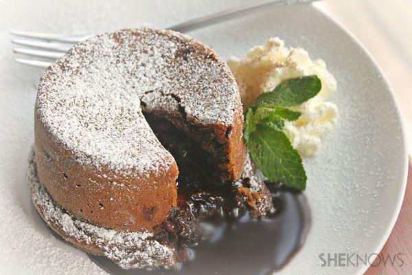 Mini chocolate molten cakes #sheknows
