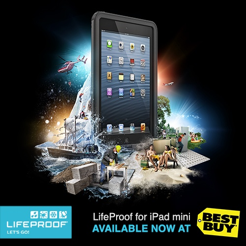 We're happy to announce that LifeProof Frē for iPad Mini is now available at Best Buy online and retail stores.