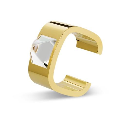 Bracciale manchette in Cristallo Circé: Gold Bands, Accessories Style, Circle