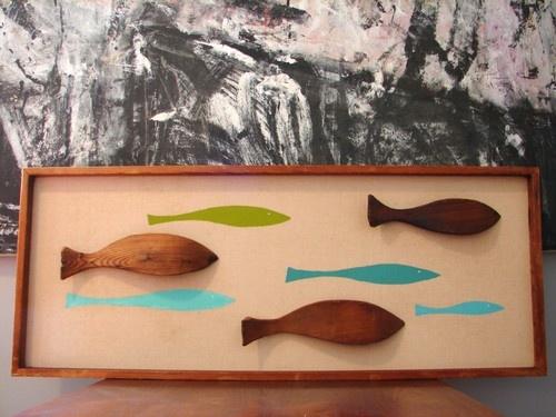 WITCO FISH PANEL WALL ART DANISH MID CENTURY MODERN EAMES TIKI ART PAINTING | eBay