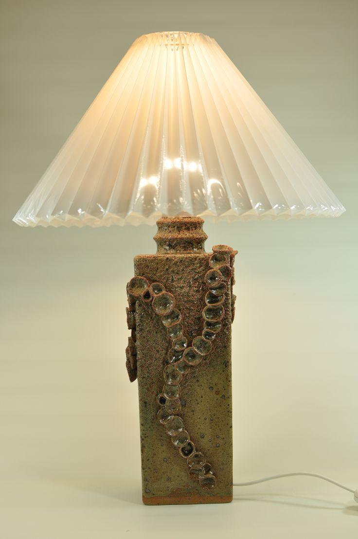 Lamp with glaze of Fucus Vesiculosus