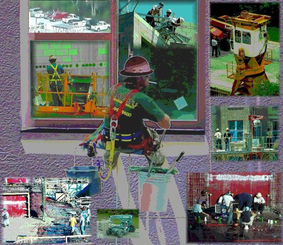 GIFTS FOR MEN. Collage From the Images of Construction. Fine