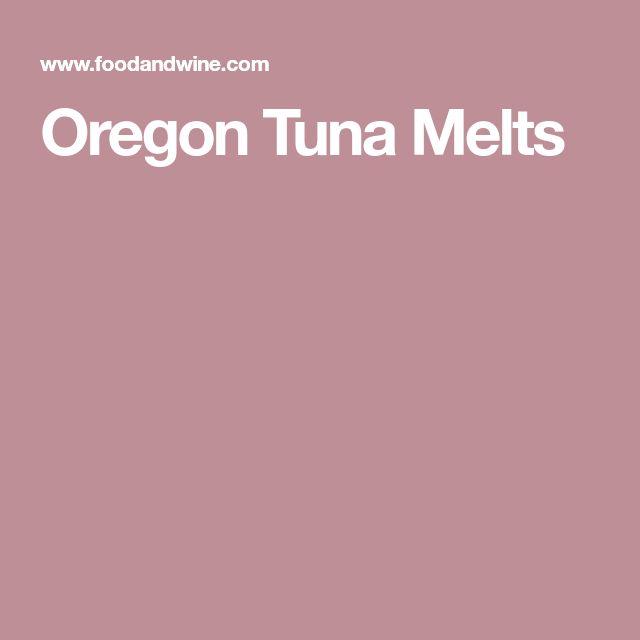 Oregon Tuna Melts