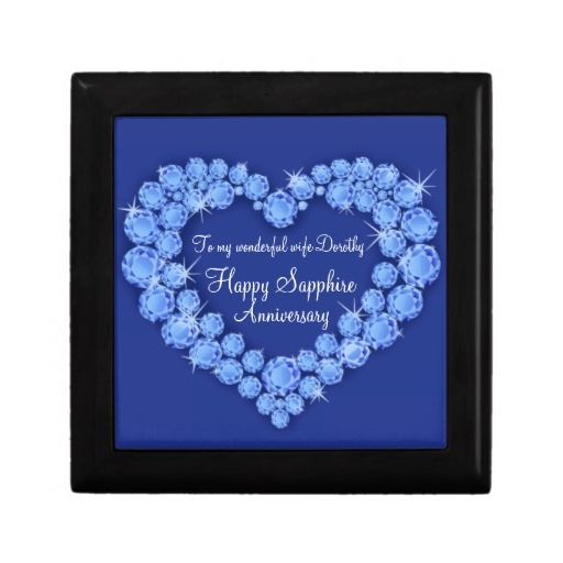Sapphire anniversary 45 years heart wife gift box. Ideal to use to ...