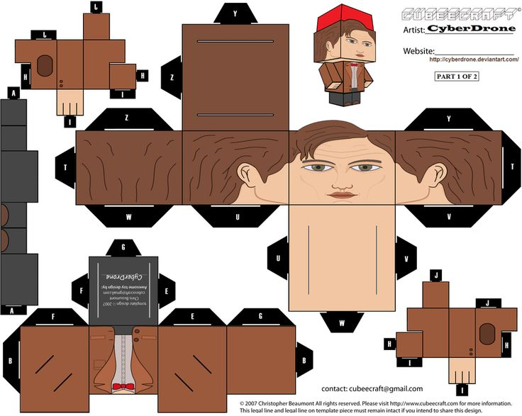 11th Doctor with Fez!   Fezzes are cool! ;-P   Cubee - 11th Doctor 'Ver3a' by ~CyberDrone on deviantART
