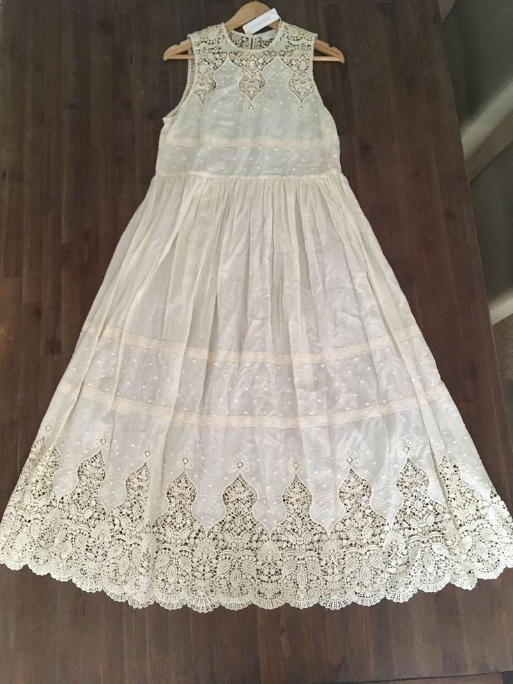 Beautiful Embroidered Designer Zimmermann Dress Size 1 | eBay