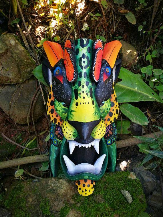 Mira este artículo en mi tienda de Etsy: https://www.etsy.com/es/listing/500084683/jaguar-mask-mascara-de-jaguar-boruca