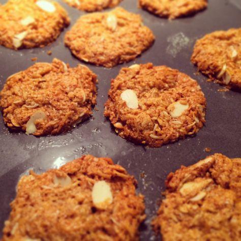 Paleo Anzac Biscuits. Sugar-free, grain-free, dairy-free.