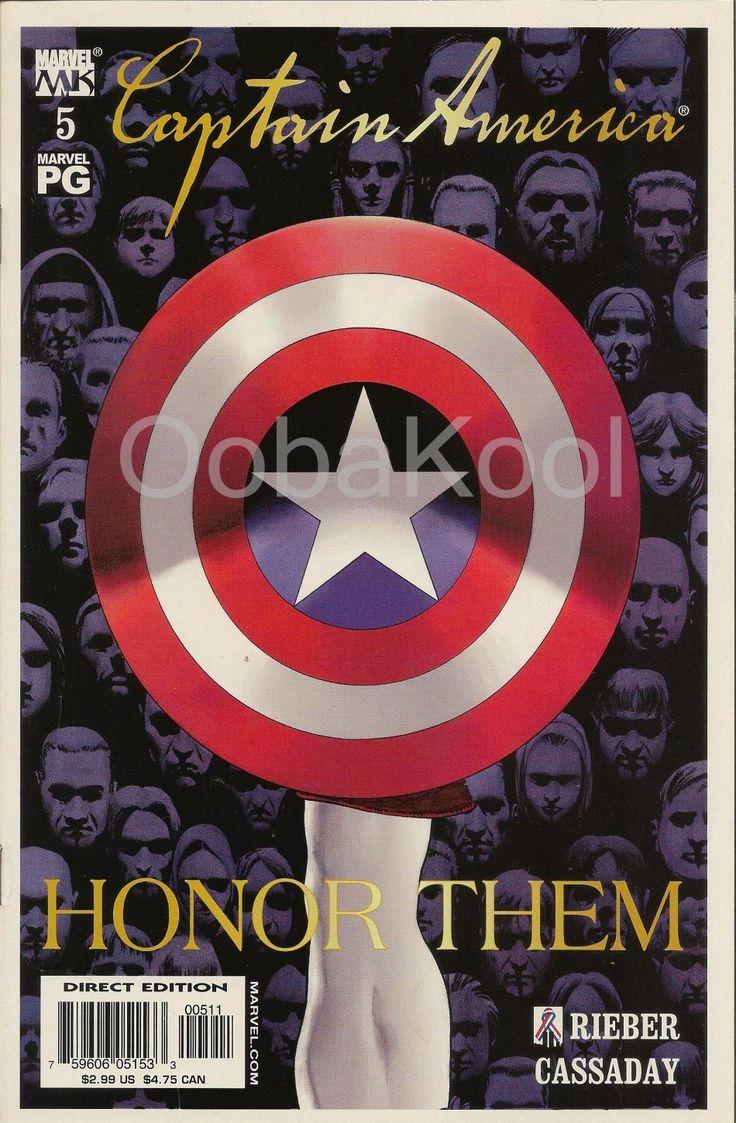 CAPTAIN AMERICA / HONOR THEM / NEWSSTAND EDITION / MARVEL COMICS #5 2002 SERIES / OobaKool Comics