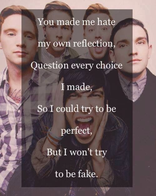 I won't try to be fake