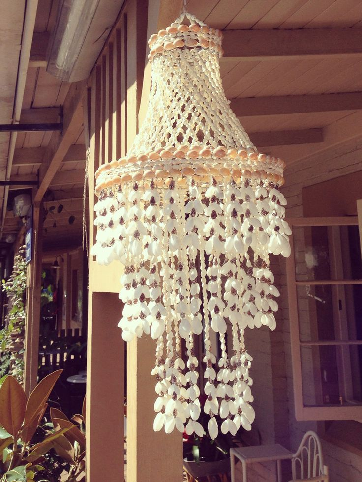 9 best bali images on pinterest chandelier lighting chandeliers make chandelier with nautical rope white shells and crystals aloadofball Images