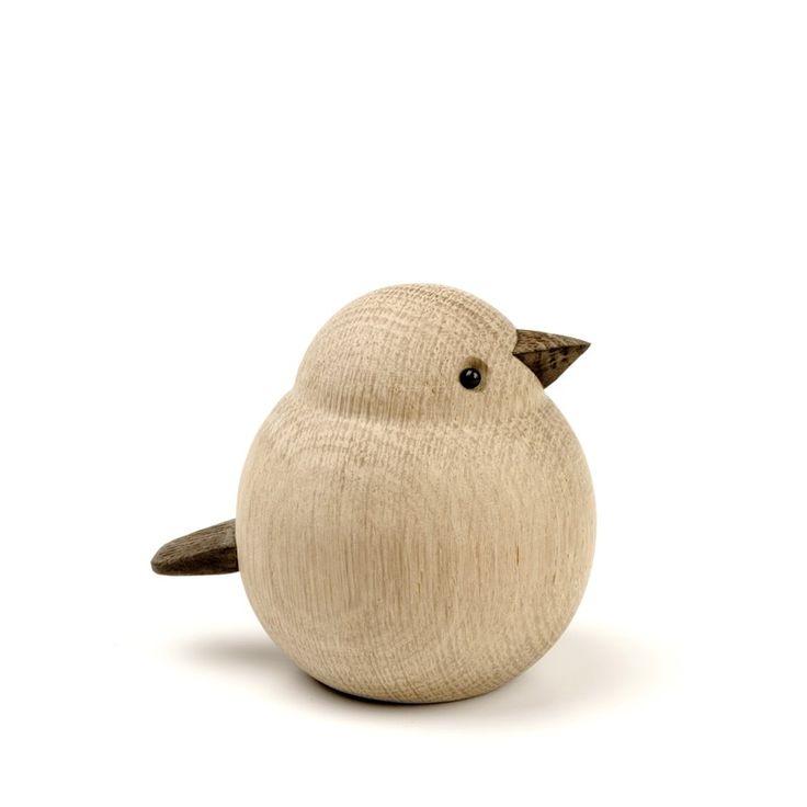 Dekorativ træfugl til hjemmet - Oak wood Bird - | ModernRoom