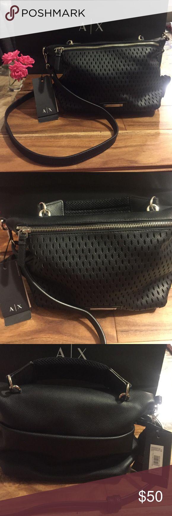 AX Armani Exchange Handbag AX Armani Exchange shoulder handbag in black Armani Exchange Bags Shoulder Bags