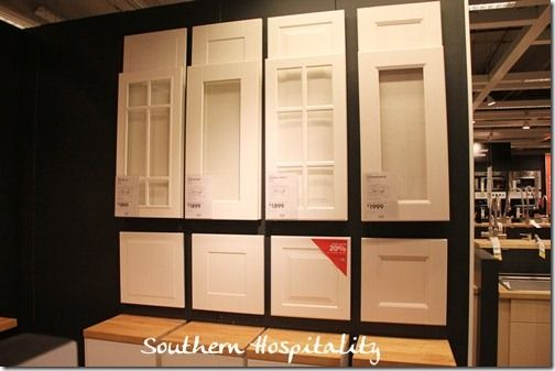 Ikea door styles and Southern Hospitality website with complete build and install. Adel Ikea cabinets. like shaker white style