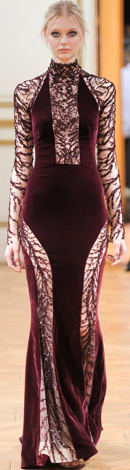 Maroon Color Stylish Velvet Gown Click The Picture To See More