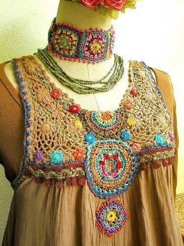 ~ chochet by me ~   modify my old dress   Aow Dusdee   Flickr