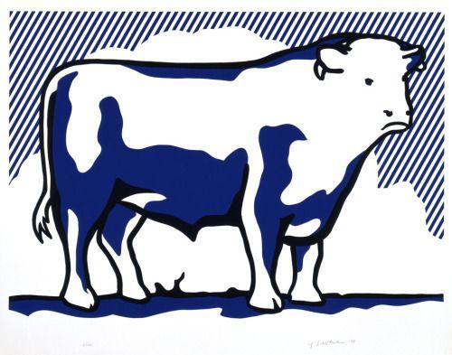 Roy Lichtenstein, Bull II, 1973 lithograph and line cut