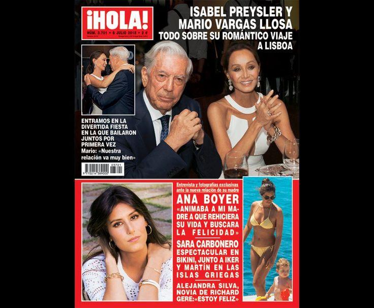 Aquí la última portada de la revista ¡Hola! de España con imágenes del viaje a Portugal de Mario Vargas Llosa e Isabel Preysler.