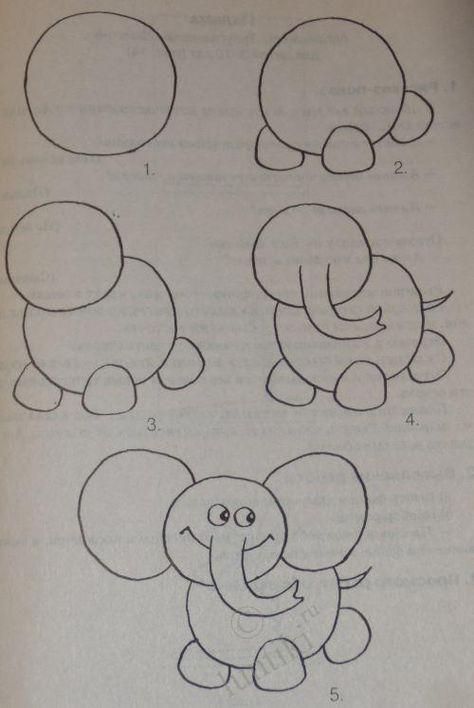 Sendung Maus 09 Gratis Malvorlage In Comic: Die Besten 25+ Elefanten Zeichnungen Ideen Auf Pinterest